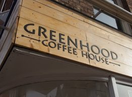 Greenhood Coffee Signage