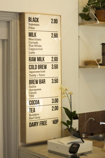 Outpost Coffee – Cafe Lightbox Menu