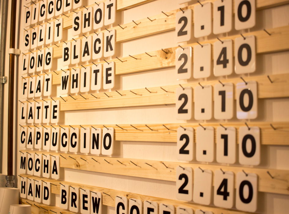 Greenhood Tile Coffee Menu