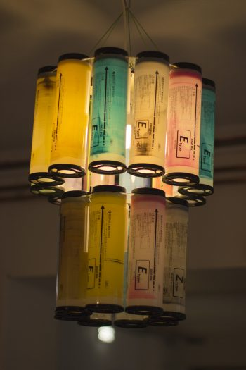 Risograph Chandelier for Dizzy Ink