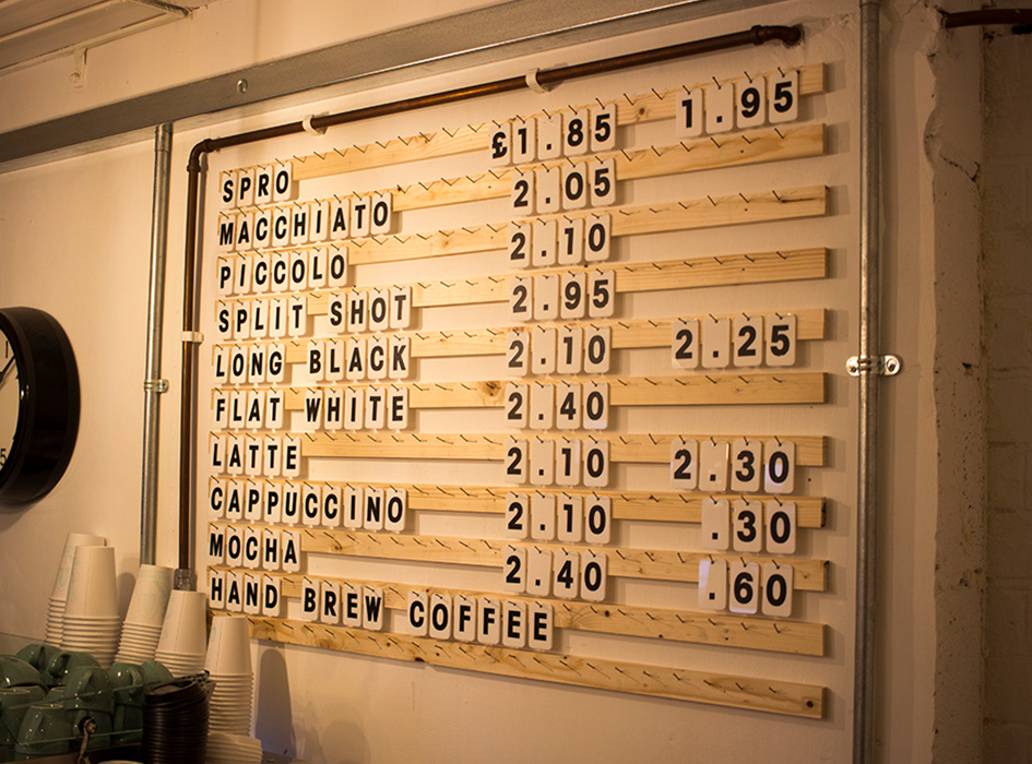 Greenhood Tile Coffee Menu